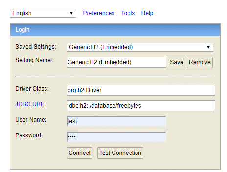 springboot2.x集成H2数据库插图